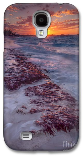 Temperature Galaxy S4 Cases - Grace Bay Sunset Galaxy S4 Case by Marco Crupi