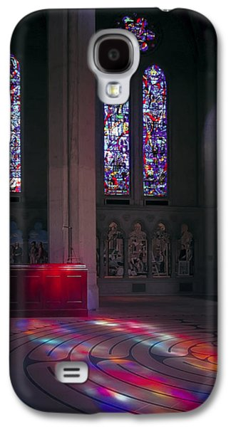 Meditative Photographs Galaxy S4 Cases - Grace Cathedral Walking Labyrinth - San Francisco Galaxy S4 Case by Daniel Hagerman