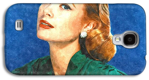 Grace Kelly Painting Galaxy S4 Case by Gianfranco Weiss