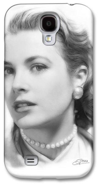 Grace Kelly Pencil Galaxy S4 Case by Steve K