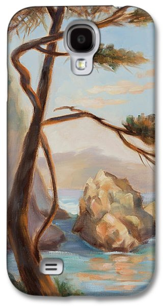 Whalers Cove Galaxy S4 Cases - Graceful Pine in Afternoon Light at Point Lobos Galaxy S4 Case by Karin  Leonard