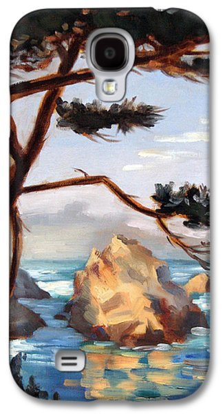 Whalers Cove Galaxy S4 Cases - Graceful Pine Pt. Lobos Galaxy S4 Case by Karin  Leonard