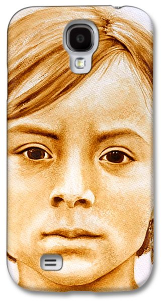 Native American Spirit Portrait Paintings Galaxy S4 Cases - Gracie Galaxy S4 Case by Julee Nicklaus