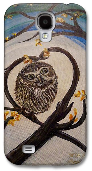 The Nature Center Paintings Galaxy S4 Cases - Graciela Finds Her Heartsong Closeup II Galaxy S4 Case by Kimberlee  Baxter