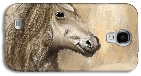 Brown Print Galaxy S4 Cases - Gracious Wild- Cream And Brown Painting Galaxy S4 Case by Lourry Legarde