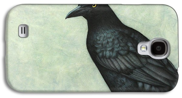 Nature Drawings Galaxy S4 Cases - Grackle Galaxy S4 Case by James W Johnson