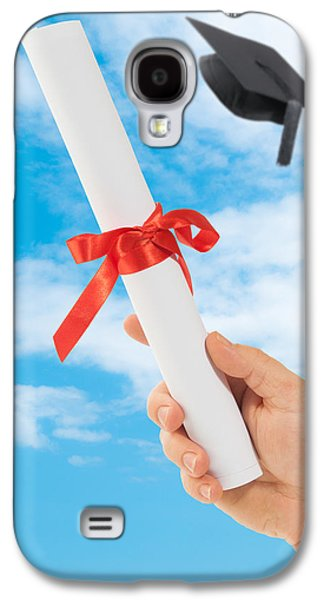 Graduation Galaxy S4 Cases - Graduation Scoll And Cap Galaxy S4 Case by Amanda And Christopher Elwell