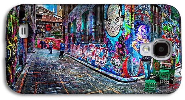 Style Life Photographs Galaxy S4 Cases - Graffiti Artist Galaxy S4 Case by Az Jackson