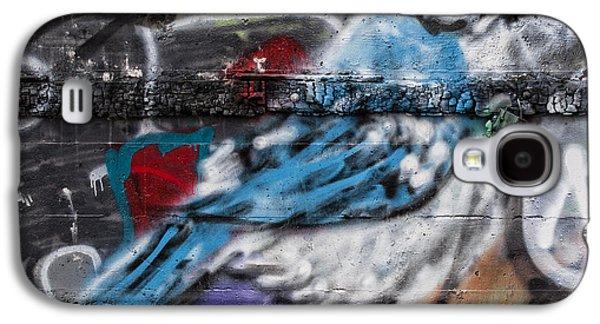Urban Photographs Galaxy S4 Cases - Graffiti Bluejay Galaxy S4 Case by Carol Leigh