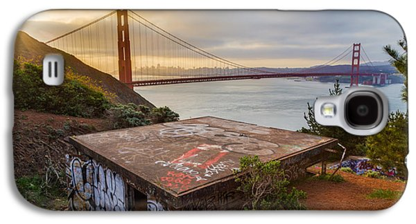 Bay Bridge Galaxy S4 Cases - Graffiti by the Golden Gate Bridge Galaxy S4 Case by Sarit Sotangkur