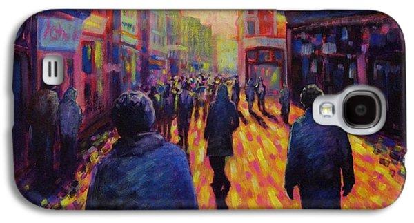 Night Scenes Galaxy S4 Cases - Grafton Street Dublin Galaxy S4 Case by John  Nolan