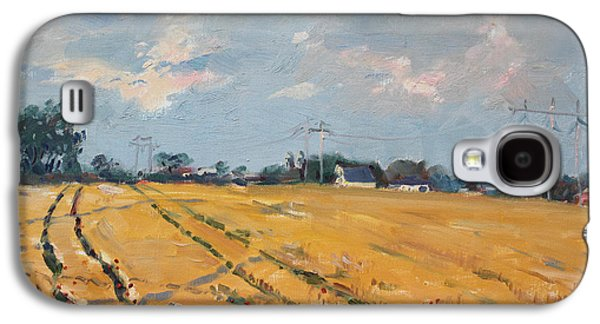 Countryside Paintings Galaxy S4 Cases - Grain Field Galaxy S4 Case by Ylli Haruni