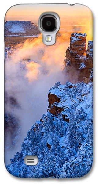 Temperature Inversion Galaxy S4 Cases - Grand Canyon - Winters Fire Galaxy S4 Case by Adam Schallau