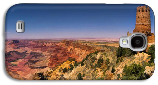 Elizabeth Galaxy S4 Cases - Grand Canyon Desert View Watchtower Panorama Galaxy S4 Case by Christopher Arndt