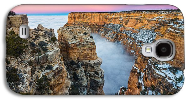 Temperature Inversion Galaxy S4 Cases - Grand Canyon in the Clouds Galaxy S4 Case by Adam  Schallau