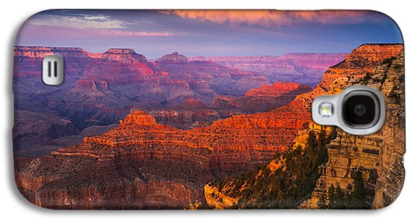 Grand Canyon Photographs Galaxy S4 Cases - Grand Canyon - The Heart of the Earth Galaxy S4 Case by Adam Schallau