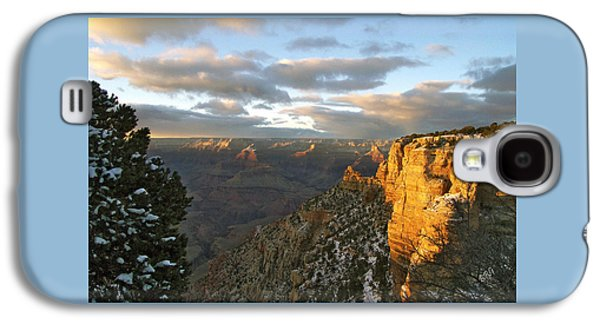 Sun Galaxy S4 Cases - Grand Canyon. Winter Sunset Galaxy S4 Case by Ben and Raisa Gertsberg
