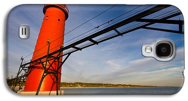 Landscapes Photographs Galaxy S4 Cases - Grand Haven Lighthouse Galaxy S4 Case by Adam Romanowicz