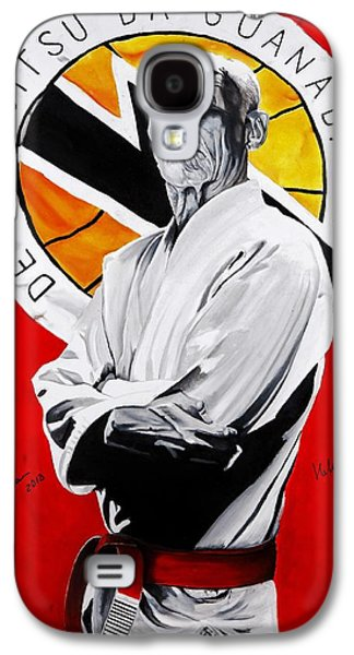 Master Paintings Galaxy S4 Cases - Grand Master Helio Gracie Galaxy S4 Case by Brian Broadway