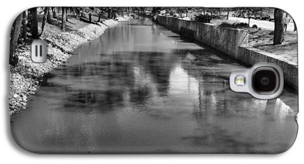 Trees Reflecting In Creek Galaxy S4 Cases - Grand Rapids Galaxy S4 Case by Dan Sproul
