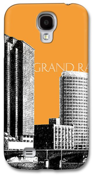 Pencil Digital Galaxy S4 Cases - Grand Rapids Skyline - Orange Galaxy S4 Case by DB Artist