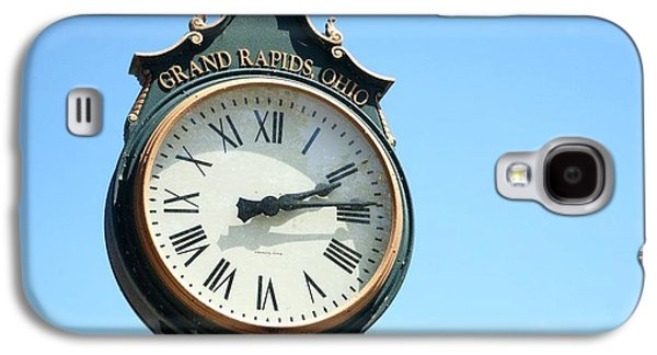 Timing Galaxy S4 Cases - Grand Rapids Ohio Clock Galaxy S4 Case by Dan Sproul