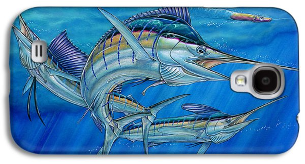 Marlin Azul Galaxy S4 Cases - Grand Slam And Lure. Galaxy S4 Case by Terry Fox