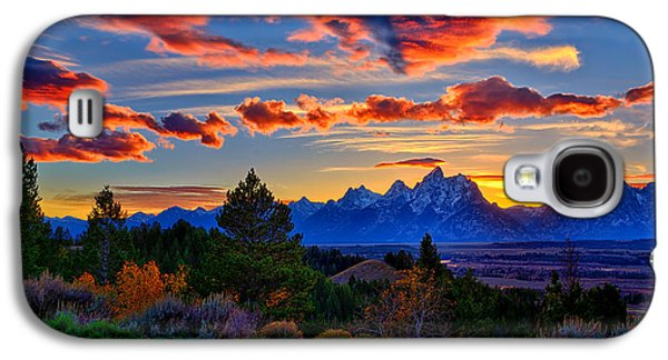 Photographic Art Galaxy S4 Cases - Grand Teton Sunset Galaxy S4 Case by Greg Norrell
