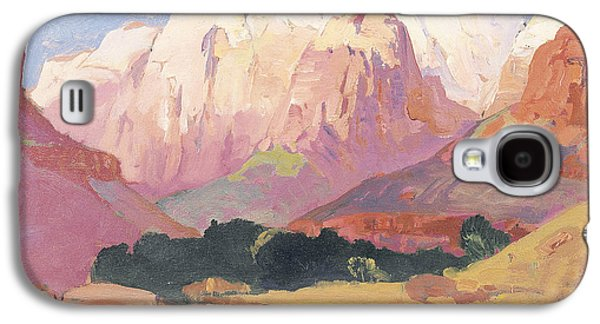 Mountainous Paintings Galaxy S4 Cases - Grand Tetons Galaxy S4 Case by Franz A Bischoff