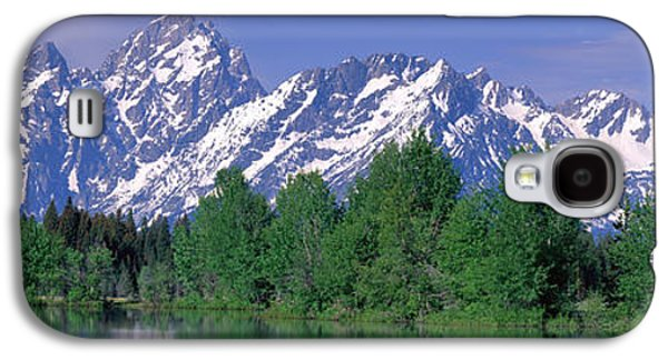 Snow Capped Galaxy S4 Cases - Grand Tetons National Park Wy Galaxy S4 Case by Panoramic Images