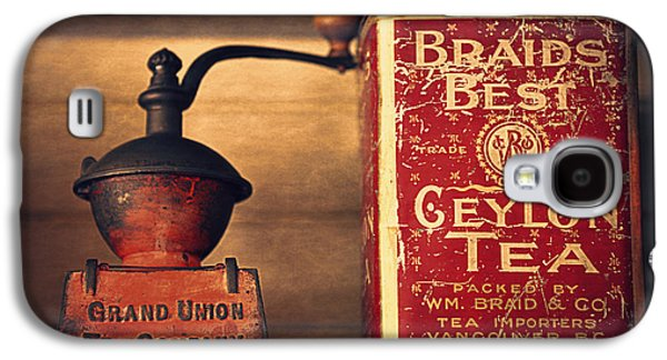 Old Grinders Galaxy S4 Cases - Grand Union Tea Company Galaxy S4 Case by Maria Angelica Maira