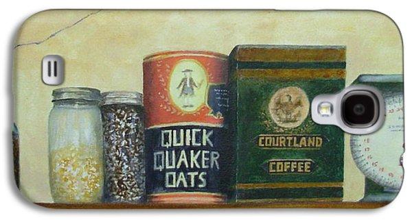 Quaker Paintings Galaxy S4 Cases - Grandmas Cupboard Galaxy S4 Case by Elizabeth Crabtree
