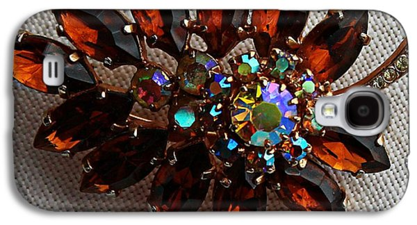 Gift Jewelry Galaxy S4 Cases - Grandmas Topaz Brooch - Treasured Heirloom Galaxy S4 Case by Barbara Griffin