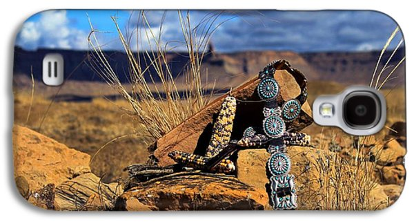 Concho Belt Galaxy S4 Cases - Grandmothers Belt Galaxy S4 Case by Chelsea Begay