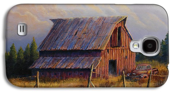 Old Barns Galaxy S4 Cases - Grandpas Truck Galaxy S4 Case by Jerry McElroy