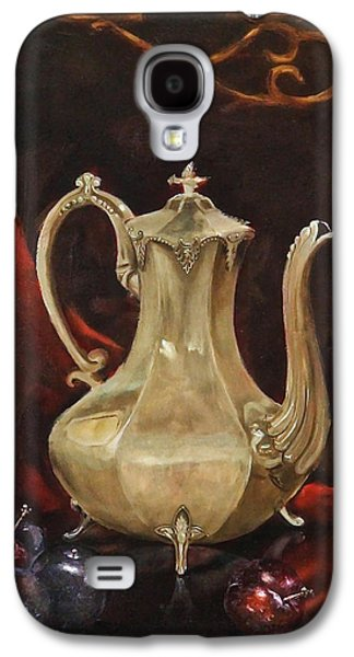 Still Life Sculptures Galaxy S4 Cases - Grannys Teapot Galaxy S4 Case by Dan Redmon