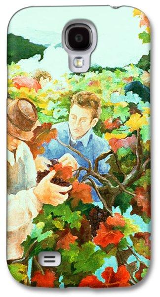 Grape Vine Galaxy S4 Cases - Grape Pickers Galaxy S4 Case by Cristiana Angelini