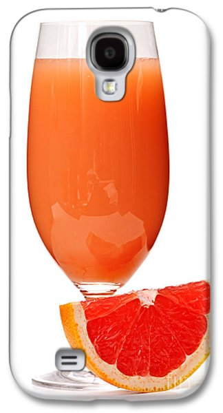 Grapefruit Galaxy S4 Cases - Grapefruit juice in glass Galaxy S4 Case by Elena Elisseeva