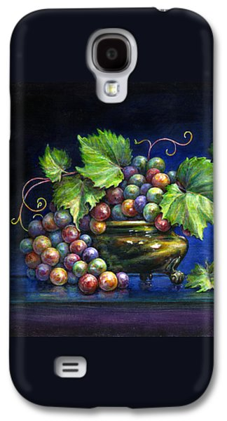 Occupy Beijing Galaxy S4 Cases - Grapes in a Footed Bowl Galaxy S4 Case by Jane Bucci