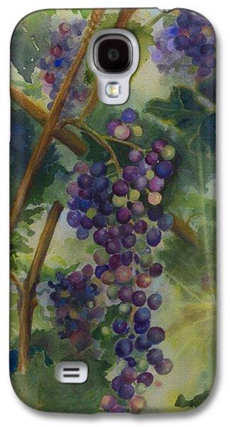 Vineyard Art Galaxy S4 Cases - Baby Cabernets II   triptych Galaxy S4 Case by Maria Hunt