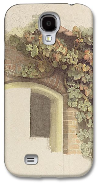 Grapevines Photographs Galaxy S4 Cases - Grapevines On A Brick House, 1832 Pencil And Wc On Paper Galaxy S4 Case by Johann Martin Gensler