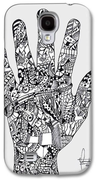 Graphic Hand Galaxy S4 Case by Yomutan Simoes
