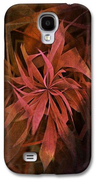 Grass Abstract - Fire Galaxy S4 Case by Marianna Mills