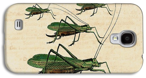 Grasshopper Parade Galaxy S4 Case by Antique Images