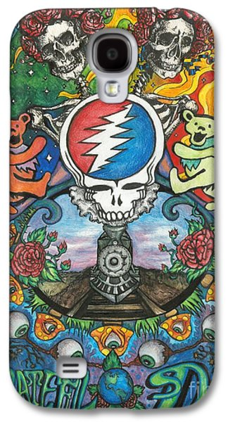 Rocks Drawings Galaxy S4 Cases - Grateful Dead Fantasy Galaxy S4 Case by Amanda Paul