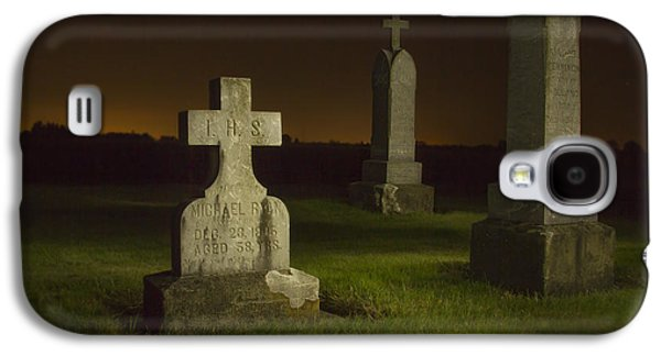 Final Resting Place Galaxy S4 Cases - Gravestones at Night Painted with Light Galaxy S4 Case by Jean Noren