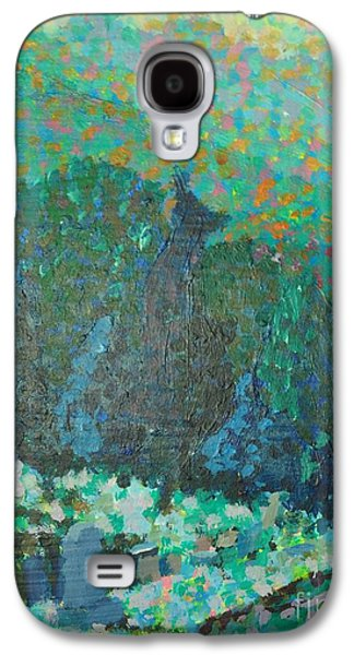 Headstones Paintings Galaxy S4 Cases - Graveyard Galaxy S4 Case by Juanita Doll
