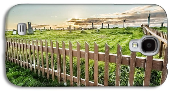 Headstones Galaxy S4 Cases - Graveyard On Flatey Island Galaxy S4 Case by Panoramic Images