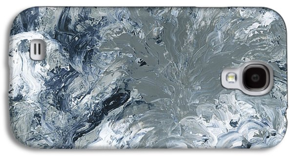 Disorder Paintings Galaxy S4 Cases - Gray Color of Energy Galaxy S4 Case by Ania Milo