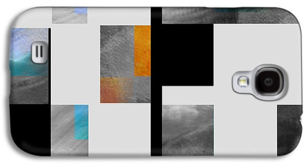 Color Block Galaxy S4 Cases - Gray Series Four abstract art Galaxy S4 Case by Ann Powell
